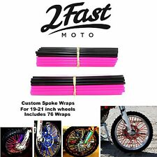2FastMoto Spoke Wrap Kit Pink Black Wraps Covers Skins Color Spoke Skinz Yamaha