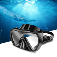 Half Face Snorkel Mask Scuba Diving Swimming Goggles Underwater Anti Fog Dry US