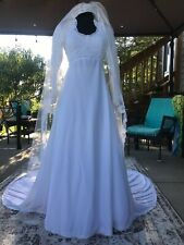 60 Wedding Dress - Renaissance - Princess - Handmade - Boho - Victorian - XS