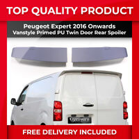 VANSTYLE PEUGEOT EXPERT 2016> QUALITY PRIMED PU REAR TWIN BARN DOOR SPOILER WING