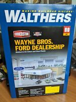 Walthers Cornerstone Ho Scale Wayne Bros Ford Dealershipl