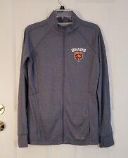 Womens Majestic Chicago Bears Blue Jacket Full Zip Long Sleeve Therma Base Sz  L