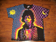 Vintage Hanes Jimi Hendrix Shirt Size Large Print All Over VTG 1992