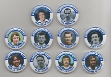 BIRMINGHAM CITY LEGENDS BADGES  ANY 10  PLAYERS FROM THE PICS  38mm  IN SIZE