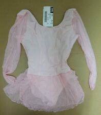 NWT Ladies Sheer 3/4 Sleeve Skate Skating Dance Dress Lt Pink princess seam S/M