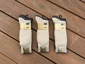 6 Pack Dress Socks Men New Gold Toe Casual Crew *Oatmeal/Heather/Brown*(3 Pairs)