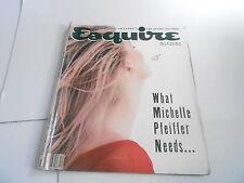 DEC 1990 ESQUIRE mens fashion magazine MICHELLE PFEIFFER