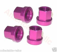 4X 14mm Flange Alloy Wheel Nuts Purple Old Vintage School BMX Track Bike Bicycle