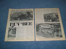"""1967 Covette Roadster Vintage Show Car Article """"Luv Bee"""""""