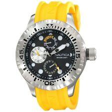 Nautica Mens Multi Analog Display Japanese Quartz Yellow 45 N15107G $150