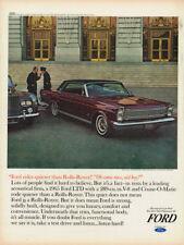 1965 GALAXIE 500 LTD FORD VINTAGE ORIGINAL LAMINATED AD ART