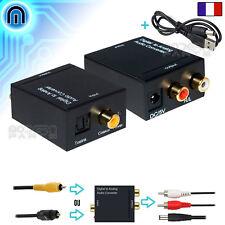Convertisseur Audio Digital Analogique Coaxial SPDIF Toslink Optique vers RCA