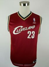NBA Cleveland Cavaliers Lebron James Boys Wine Tank Top Jersey Reebok Youth L