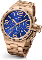 TW STEEL CB184 MENS ROSE GOLD 50MM CANTEEN WATCH - 2 YEARS WARRANTY