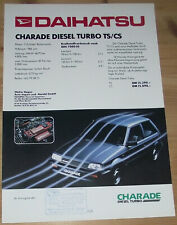 Prospekt Daihatsu Charade Diesel Turbo TS/CS 1985