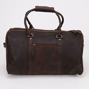 NORDBURY Leather Duffle Bag, Mens Leather Weekend Bag, Holdalls Bag
