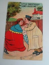 "Comic Postcard ""Little Sweetheart Come+Kiss Me"" Franked+Stamped 1909 §B498"