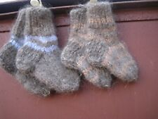 kids children's SOCKS & MITTENS dog's down hair yarn handknitted Russian craft