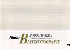 NIKON - F-601 F-601M - Blitzfotografie - Bedienungsanleitung - B3364