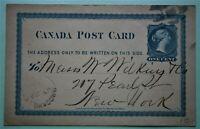 1875 Canada Postcard - Cancelled Brockville, Ont.