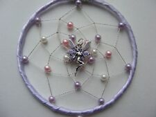 Pastel FAIRY MINI Dreamcatcher Bedroom /Car Mirror Charm Birthday gift Childrens