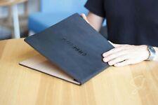 """Personalized Leather Menu Cover 8.5x11"""", Cafe Restaurant Menu Holder, Menu Book"""