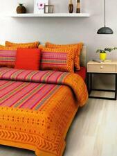 JAIPURPRINTS Printed Double Bedsheet 2Pillow Cover Multicolor FS
