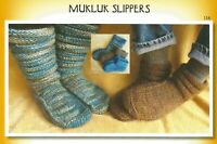 Adult's Mukluk Slippers Knitting Pure & Simple Instruction Pattern #116 S M L XL