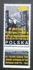 POLAND STAMPS MNH 2Fi3296 Sc3151 Mi3444Zf - Warsaw Ghetto Uprising, 1993, **