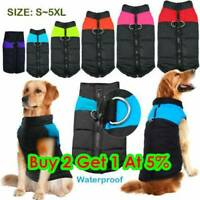 8Size For Pet Dog Clothes Autumn Winter Warm Padded Coat Vest Jacket Waterproof