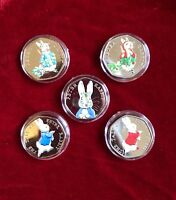 Beatrix Potter 50p Uncirculated Coin Peter Rabbit Collections 2016/2017/2018