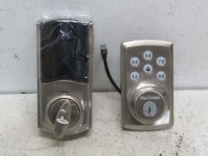 Kwikset Z-Wave Satin Nickel SmartCode 888 Touchpad Electronic Deadbolt 98880-004
