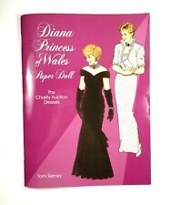 Uncut Diana Princess of Wales Paper Doll Book, 1997 Dress Auction Tierney