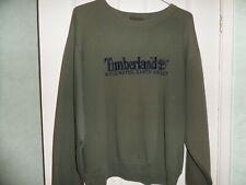 TIMBERLAND Weathergear SWEATSHIRT Men GREEN COTTON Size XXL * V GOOD Condition