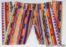 Onzie Long Legging Colorful Southwest Aztec Tribal Yoga Dance Athletic M/L NWT