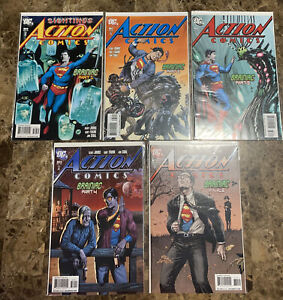 Superman Action Comics #866-870 COMPLETE RUN Braniac DC Johns Frank