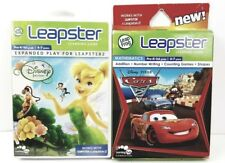Disney Cars & Feries Leapster Learning Games Leapfrog Lot of 2