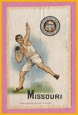 OLD University of Missouri Murad Tobacco Silk SHOT PUT!