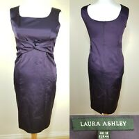 Laura Ashley Deep Purple Fitted Pencil Bodycon Dress Plus Size 18 Wedding