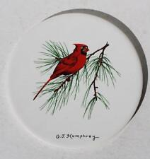Red Cardinal Cynthiana Ky-Hr Johnson England Georgia J Humphrey Studio Trivet