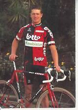CYCLISME carte cycliste THOMAS FLEISCHER équipe LOTTO MOBISTAR 1997