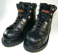Harley-Davidson Women's  Black Leather Riding Lace-up Boots US Size 6