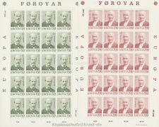 EUROPA CEPT 1980 PERSÖNLICHKEITEN - FÄRÖER FOROYAR 53-54 KLEINBOGEN **