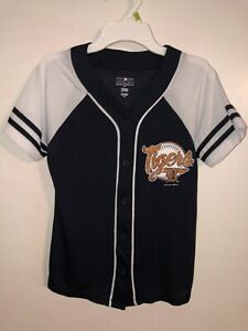 MINT MLB Youth Girls Size 10 12 Detroit Tigers Short Sleeve Jersey Shirt