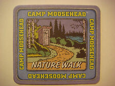CANADIAN Beer COASTER ~ Camp Moosehead ~ Draw Your Badge ~ Nature Walk to Potty!