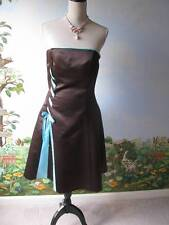 Jessica McClintock Brown Satin Strapless Wedding Prom Formal Dress SZ 9/10