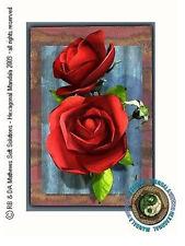 © ART - Red Rose flower floral - Original Artist Print by Di