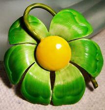 Vintage ORIGINAL BY ROBERT MOD Green FLOWER Pin Brooch