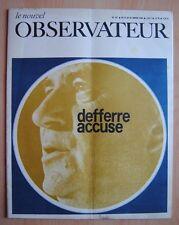 █ Le Nouvel Observateur n°167 de 1968 Defferre Accuse █