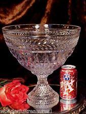 "BEAUTIFUL HUGE HEAVY 11""D x Near 11""T FOOTED Crystal Glass Bowl Vase CZECH NIB!"
